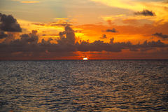 Sunset in Cayo Coco Royalty Free Stock Images