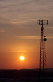 Sunset Cell Tower Stock Image