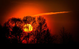 Sunset in Central Russia. Royalty Free Stock Photo