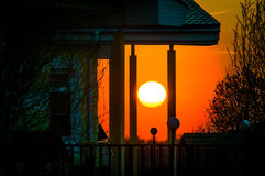 Sunset in Central Russia. Royalty Free Stock Photos