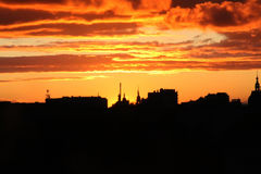Sunset in Central Russia. Stock Images