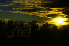 Sunset in Central Russia. Stock Photography