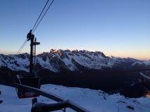 Sunset Chamonix Royalty Free Stock Image