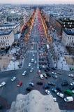 Sunset at Champ Elysee on Paris Royalty Free Stock Photo