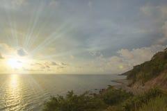 Sunset at Chantaburi province Stock Photography
