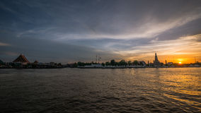 Sunset at Chao Praya river, Bangkok, Thailand Royalty Free Stock Image