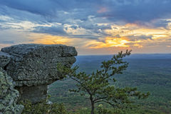Sunset At Cheaha Overlook 4 Royalty Free Stock Photography