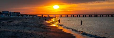 Sunset on the Chesapeake Bay Royalty Free Stock Photos