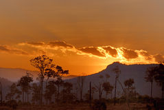 Sunset in chiang mai Royalty Free Stock Image