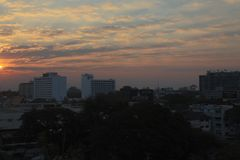 Sunset, Chiang Mai Thailand. Sunset over Chiang Mai in Thailand, Asia royalty free stock photography