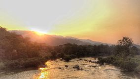 Sunset. At Chiang-rai Kok-river Stock Image