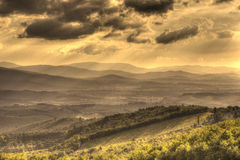 Sunset in Chianti. Red sunset near Castellina in chianti Stock Image