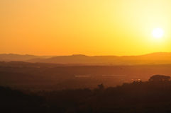 Sunset in chiantishire Royalty Free Stock Image
