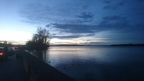 Sunset at Chiemsee. In Bavaria Royalty Free Stock Photography