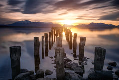 Sunset in Chile, Patagonia Stock Images