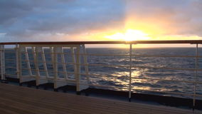 Sunset in Chilean Fjord stock video
