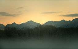 The Sunset Chilkat  Royalty Free Stock Photography