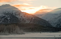 The Sunset Chilkat Valley  Stock Image