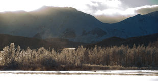 The Sunset Chilkat Valley  Stock Photos