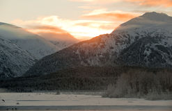 The  Sunset  Chilkat Valley Stock Photo