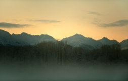 Sunset Chilkat Valley Stock Image