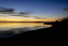 Sunset Chiloe Royalty Free Stock Photos