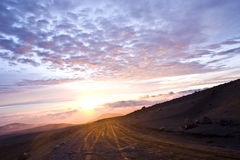 Sunset in Chimborazo Royalty Free Stock Images
