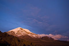 Sunset in Chimborazo Stock Image