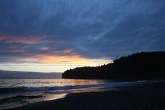 Sunset. At China Beach, Victoria, BC Stock Photo