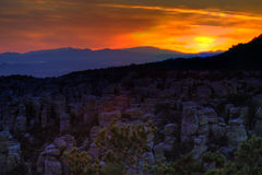 Sunset from Chiracahua Mountains stock images