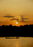 Sunset in Chitwan National Park Stock Photos