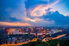 The sunset of Chongqing Royalty Free Stock Photography