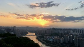 Sunset in Chongqing. Peoples Republic of China Stock Photography