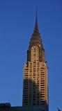 Sunset on Chrysler building Stock Image