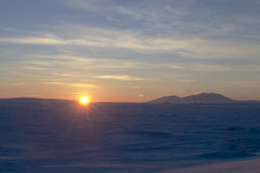 Sunset in Chukotka Royalty Free Stock Images