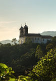 Sunset at Church San Francisco de Paula in Ouro Preto, Minas Gerais, Brazil Stock Image