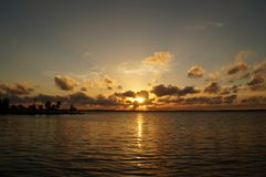Sunset in Cienfuegos Stock Photo