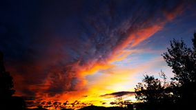 End of day color show royalty free stock image