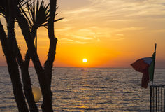 Sunset on Citara coast. Real italian sunset on Citara coast, Ischia Stock Photography