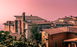 Sunset on the Città Alta Royalty Free Stock Image