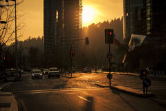 Sunset in the city Stock Image