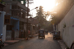 Sunset in the city. Sunset in Kochi (Cochin), Kerala, India Stock Photography