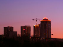 Sunset in the city Royalty Free Stock Photos