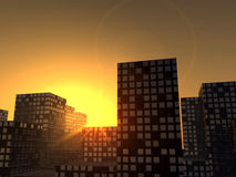 Sunset City 7 Royalty Free Stock Photos