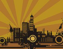 Sunset City Background Series Royalty Free Stock Photo