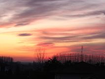 Sunset in the city. A beautiful sunset in the city Royalty Free Stock Photo