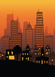 Sunset City Royalty Free Stock Images