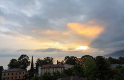 Sunset in the city of Gagra, Abkhazia Stock Photography