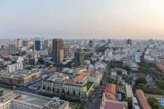 Sunset on city, Ho Chi Minh city. Ho Chi Minh City has the most dynamic economy in Vietnam Stock Photography