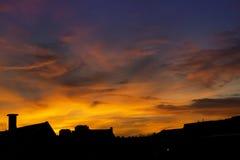 Sunset of City Stock Photo